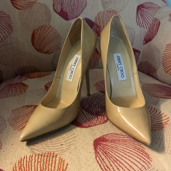 e9300f57d15 JIMMY CHOO Anouk 120 Nude Patent Leather Pumps 37. Jimmy Choo.  M 5c7f50f1c9bf5020b8b7c4b6. M 5c7f52196a0bb733fc030c72.  M 5c7f510f34a4eff981914cac